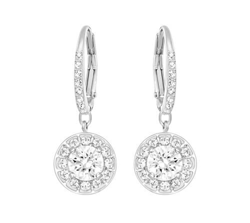 Swarovski Attract Light White Crystal Earrings