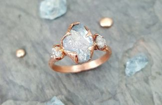 Accepting Rawness With Raw Stone Wedding Rings