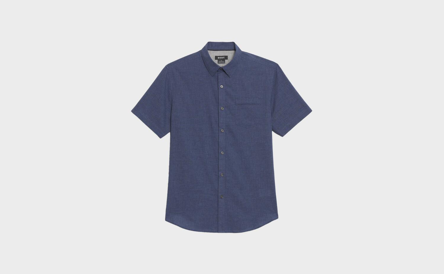 7.One button down short sleeves shirt