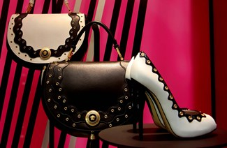 The Perfect Pairing Of Versace Handbags And Heels