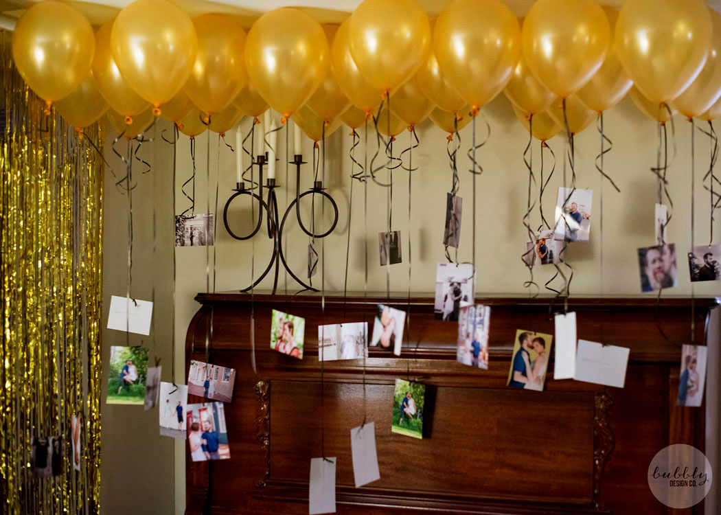 3.Pictures Tied with Balloons