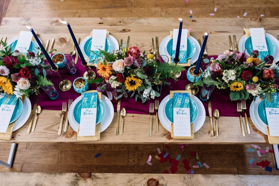 5.	Playful Colors in Wedding Details