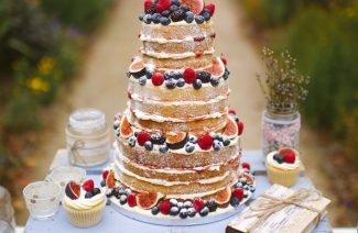 Rustic Naked Wedding Cakes To Celebrate Raw Beauty