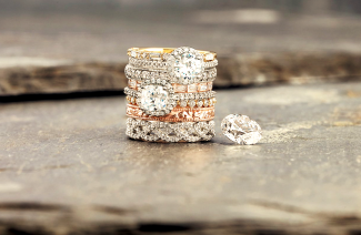 Championing Stacked Rings On Wedding Day