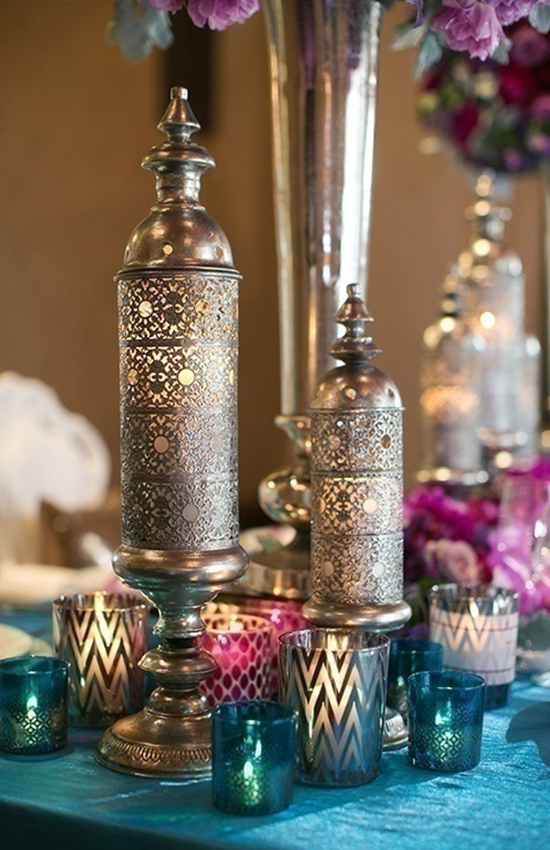 10.Moroccan Tea Glasses as Votive