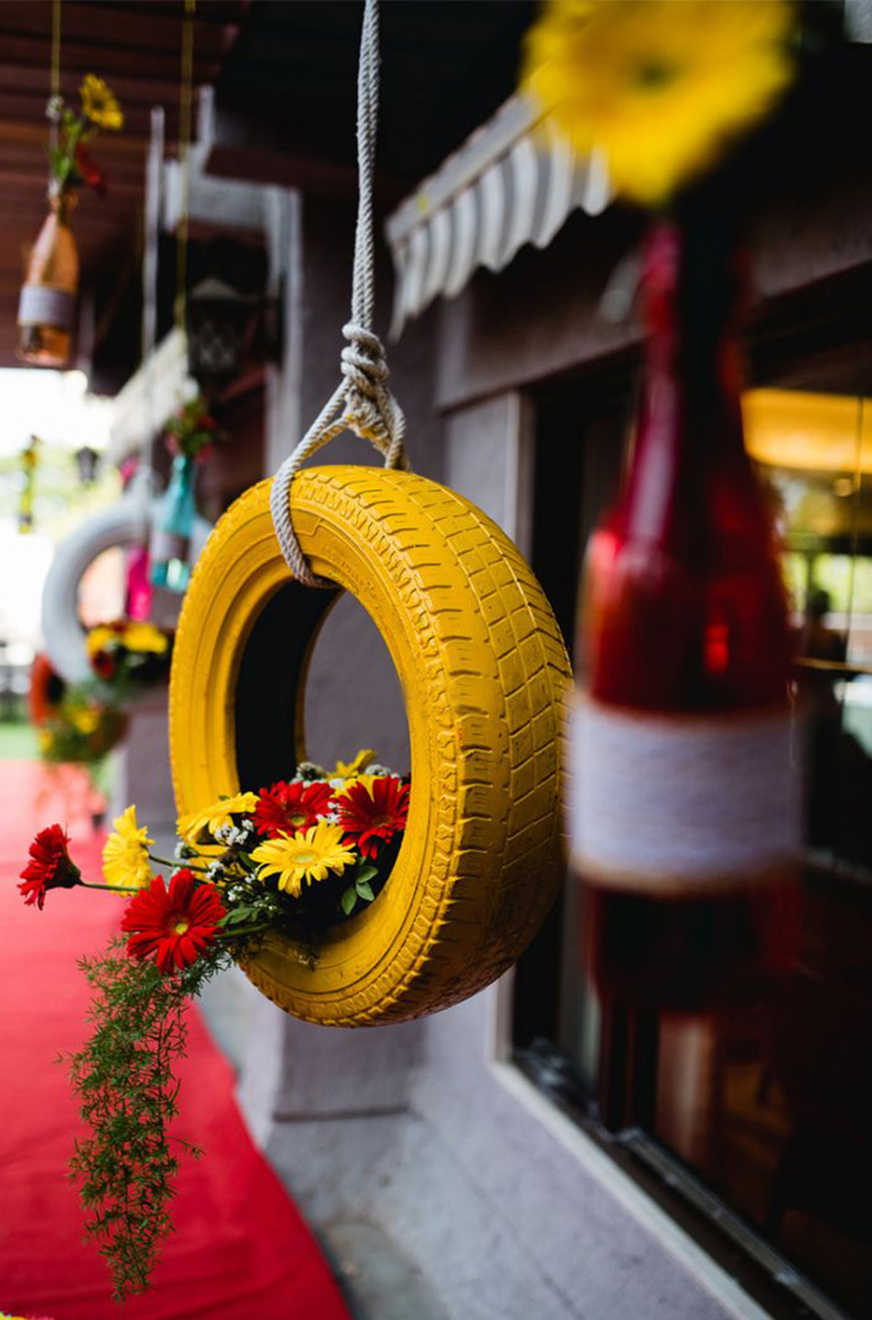 6.	Funky Tires for Hanging Décor