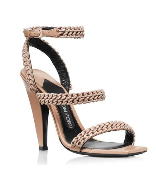 Tom Ford Square Toe Chain Sandal