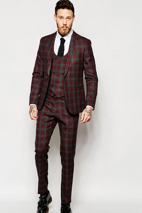Scottish Patterned Suit by ASOS