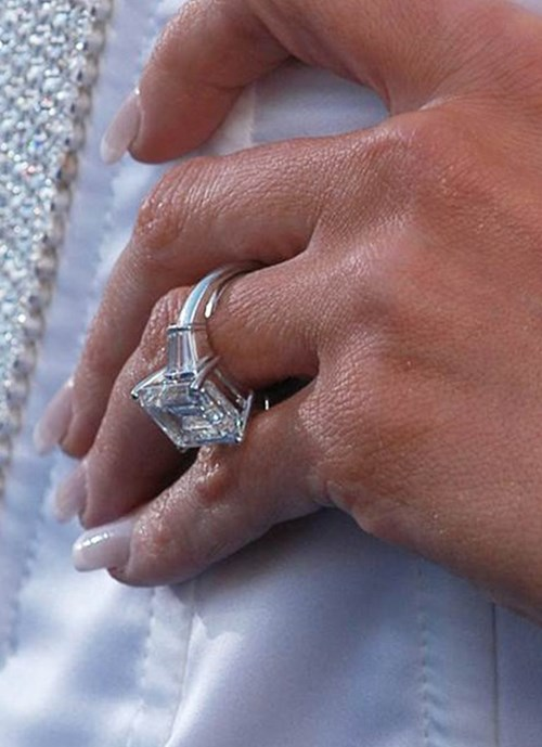 2003: Emerald Cut Diamond Ring With Side Baguettes