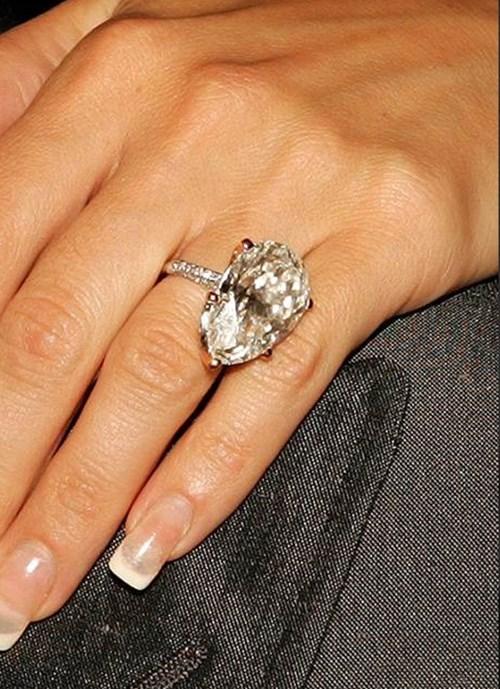 2005: Pear Cut Diamond Ring