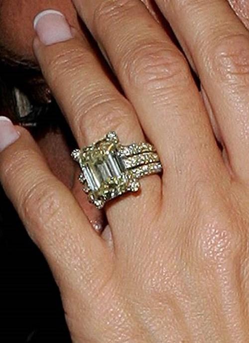 2006: Emerald Cut Yellow Diamond Ring