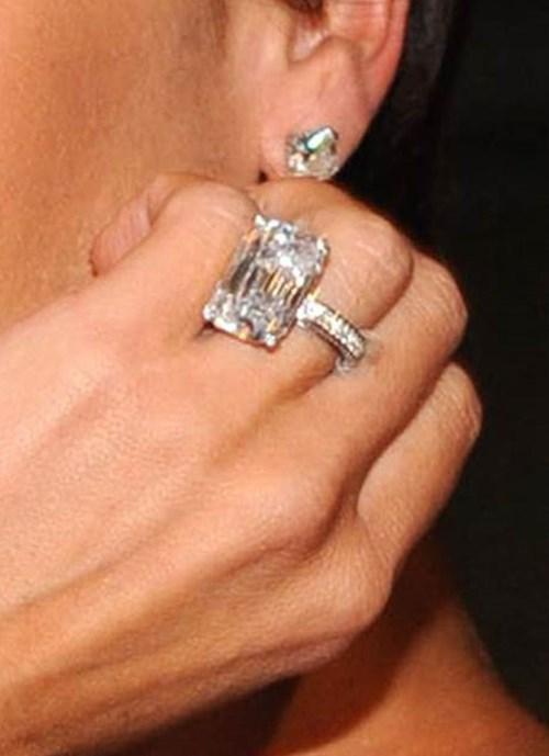 2008: 15 Carat Emerald Cut Diamond Ring
