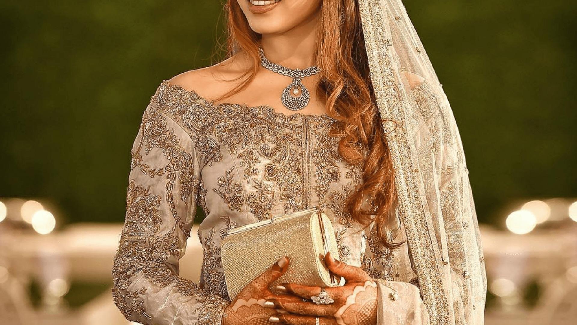 Pakistani Boat Neckline Bridals Dress