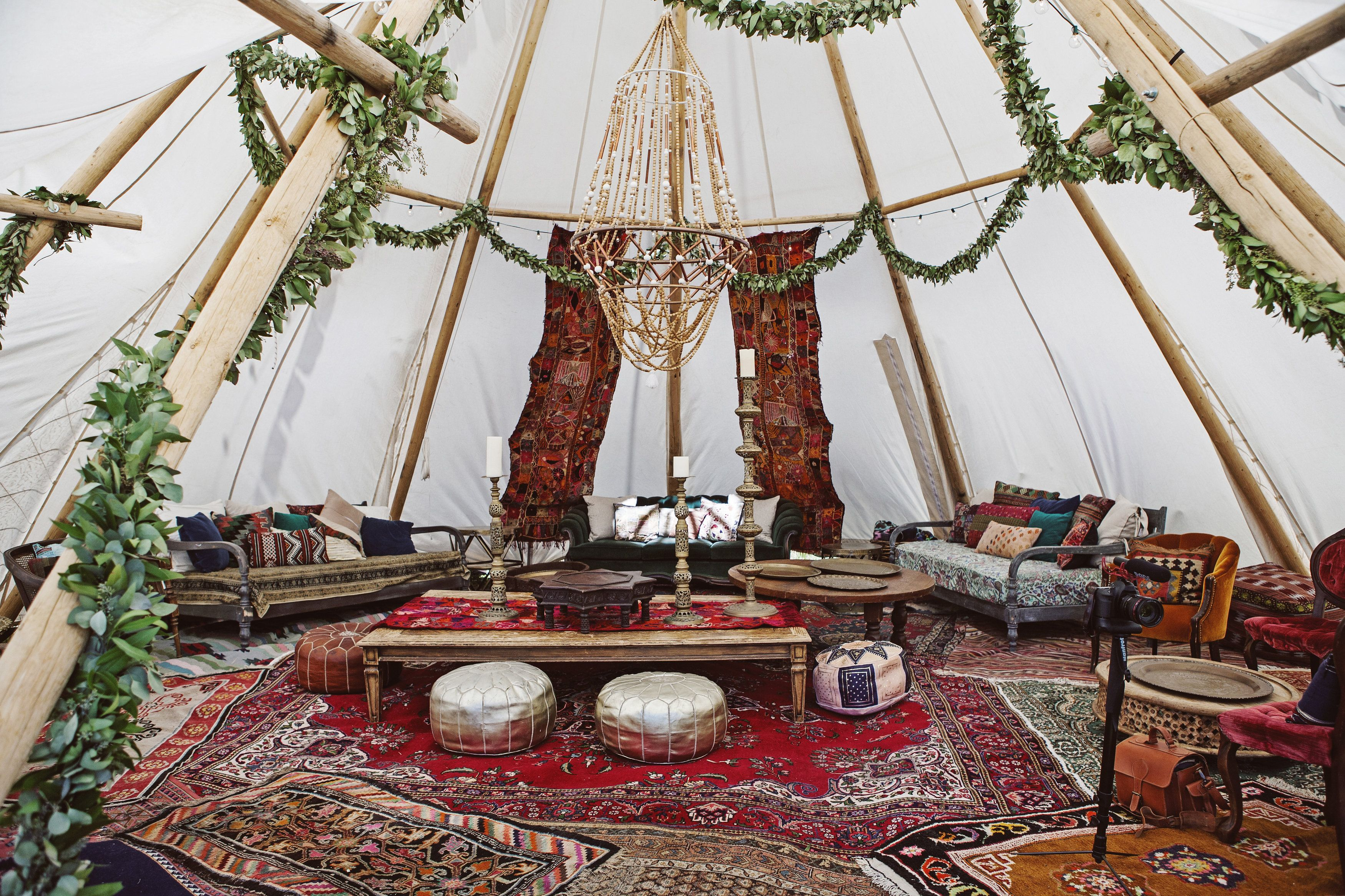 Pakistani Lavish Wedding Decor with Tents and Teepees