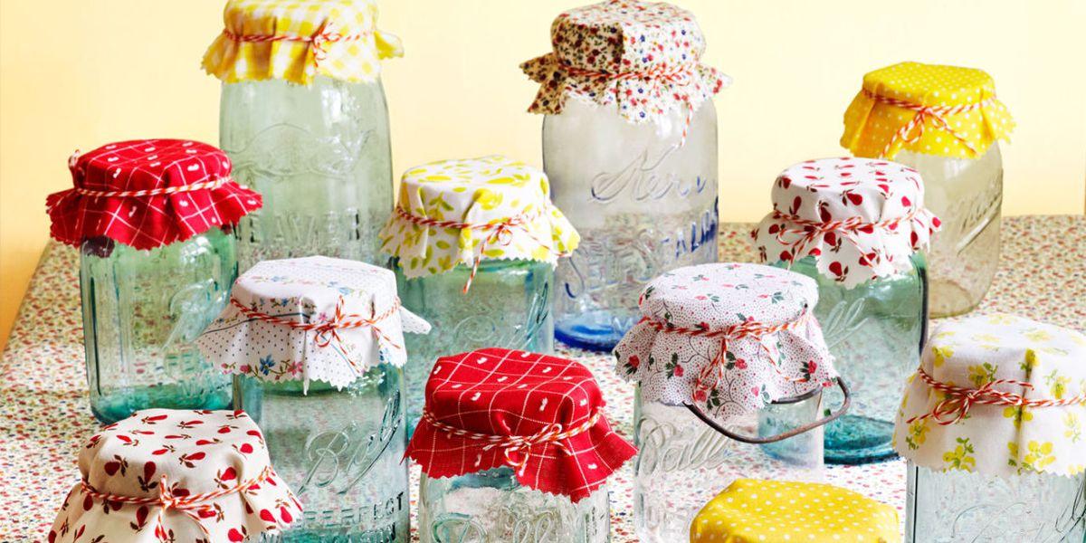 5.Decorated Mason Jar