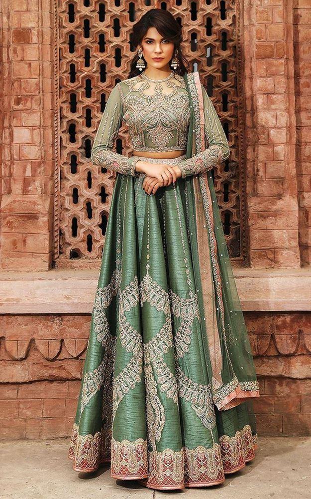 Green Bridal Lehenga for Bridals