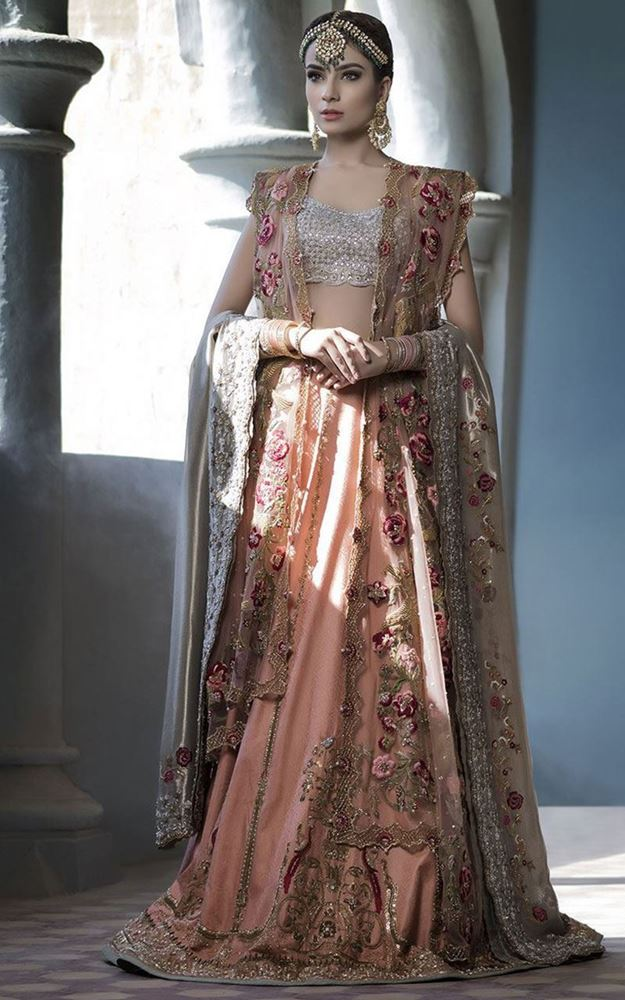 Dusty Rose Pink Bridal Lehenga