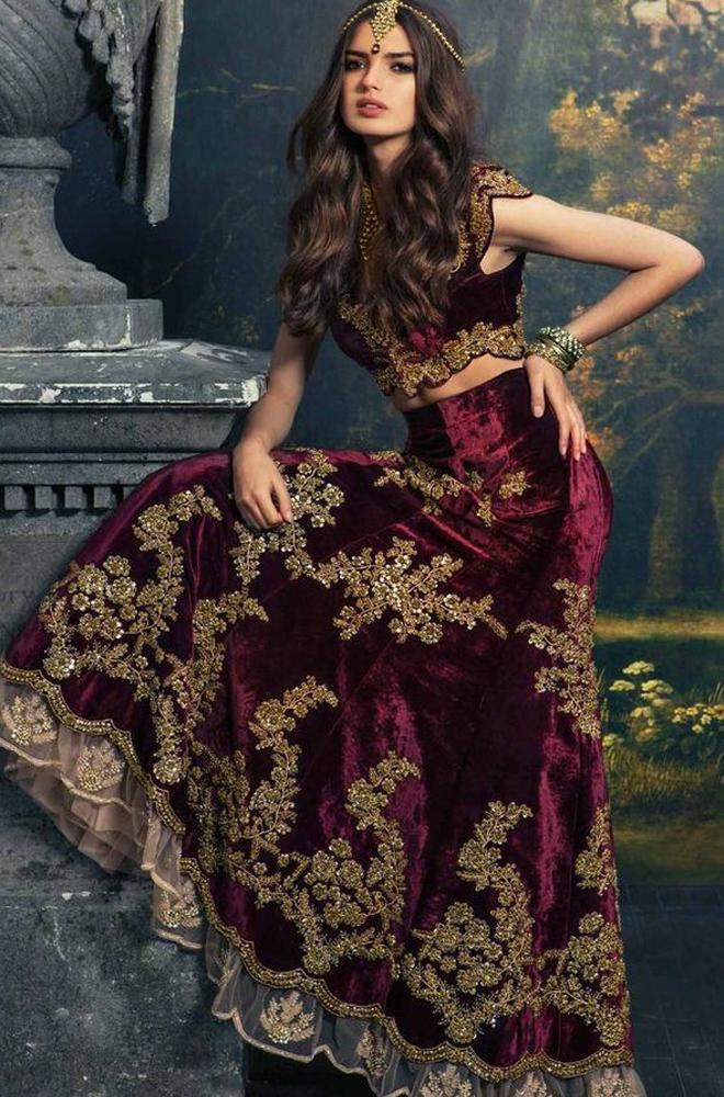 Plum Bridal Dress 4