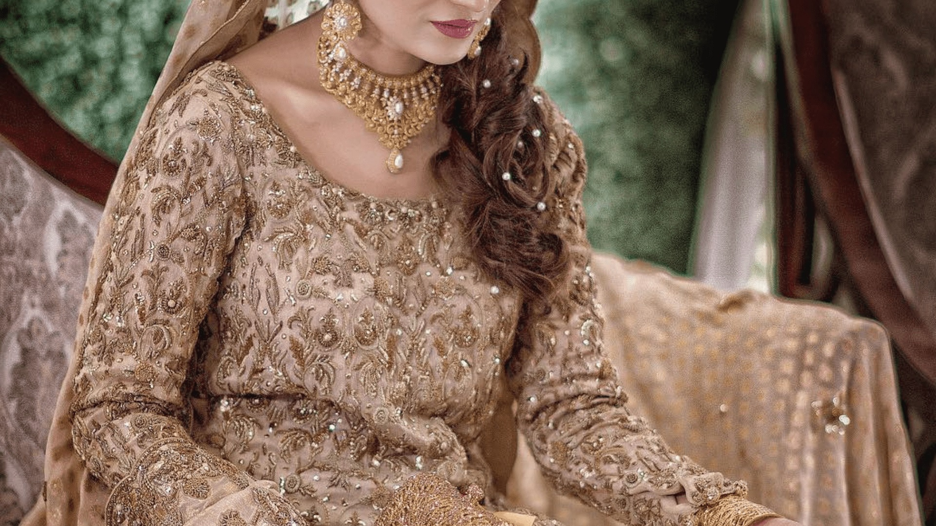 Scoop Neckline Pakistani Bridal Dress