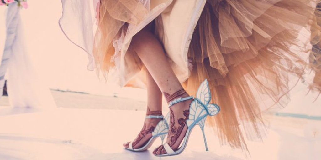 The Most Delightful Bridal Heels by Sophia Webster
