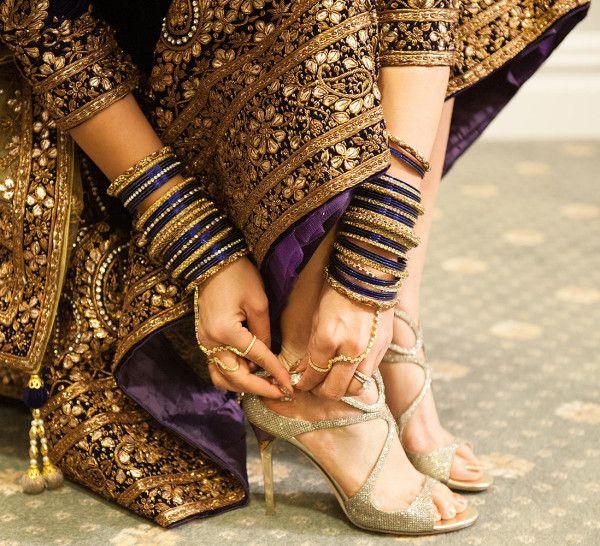 Golden Bridal Heel