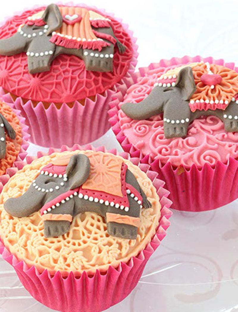 4. Miniature Elephant Cupcakes