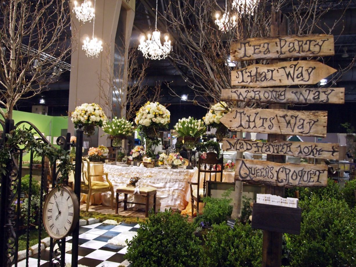 Alice in wonderland theme wedding planning