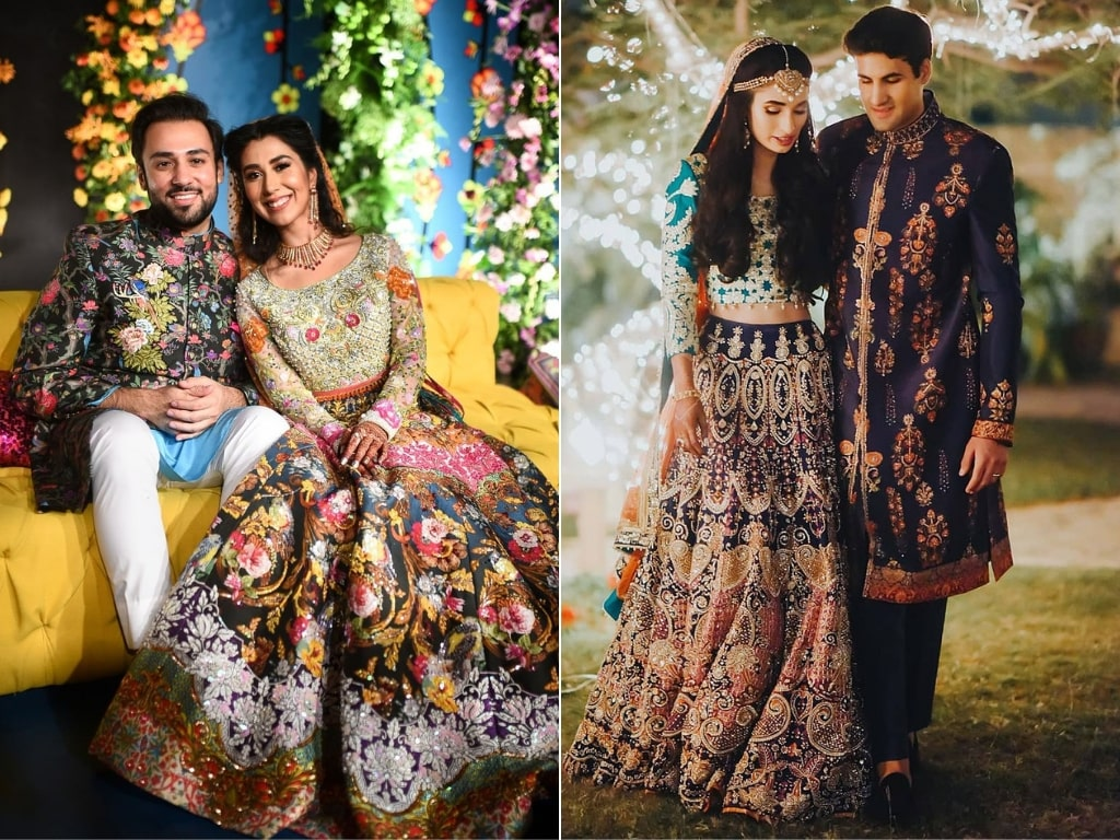 Colourful Bridal and Groom dresses