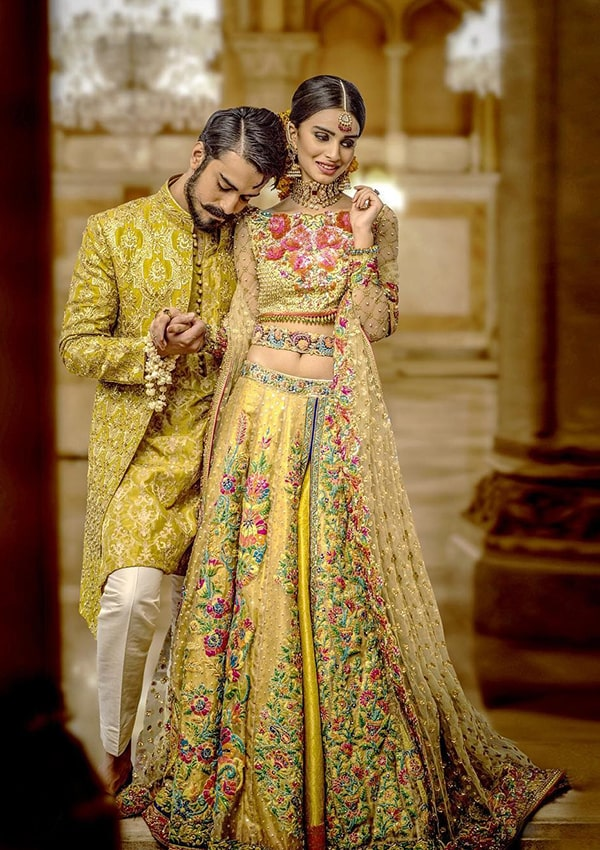 Colorful Bridal Dress