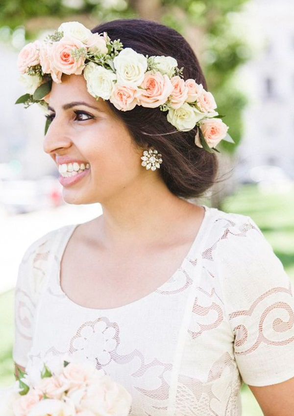 Flowers Crown for mehendi