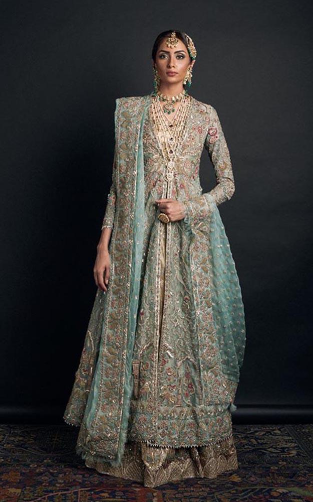 Ice Blue Bridal Dress