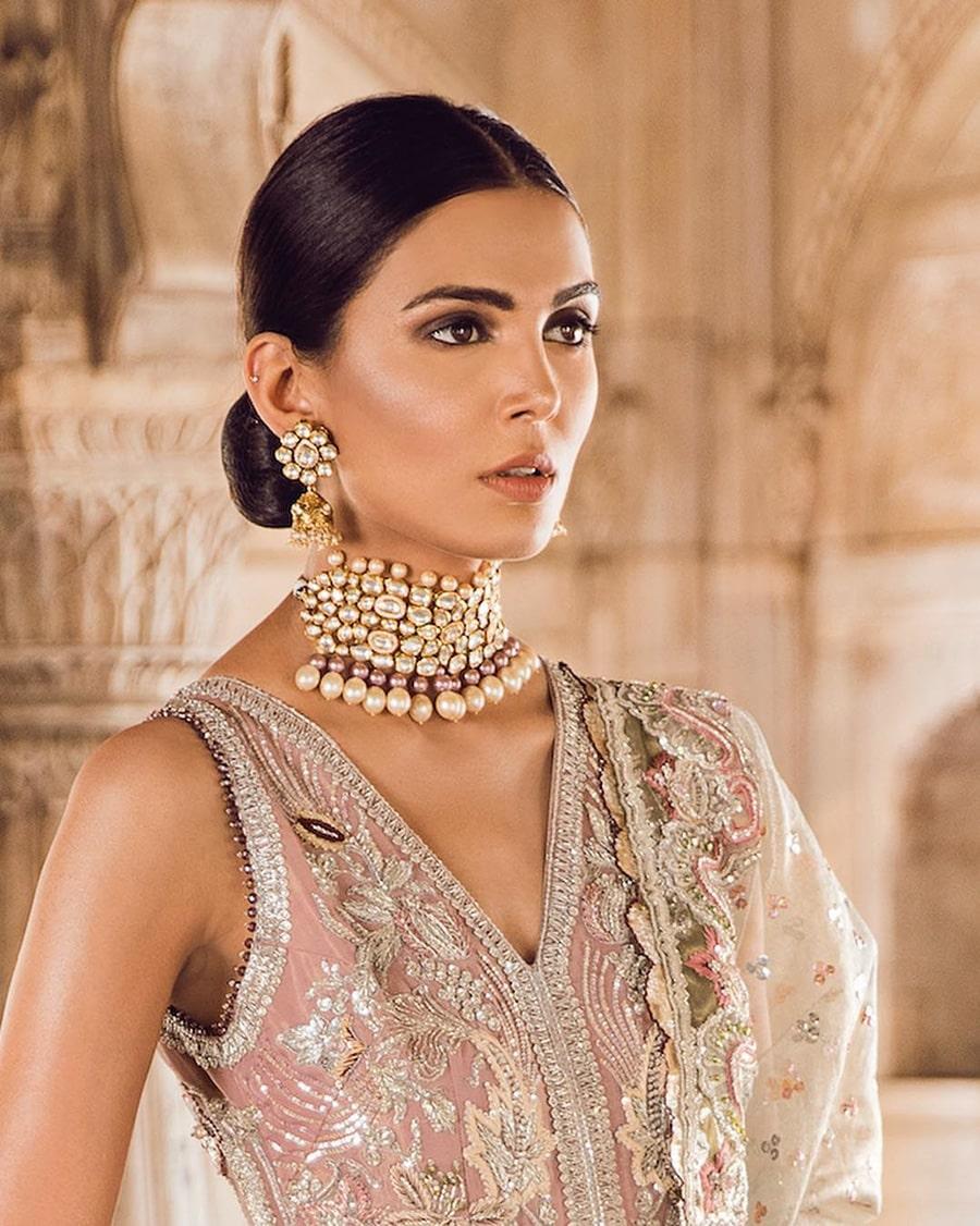 Pearl Kundan Jewelry Set