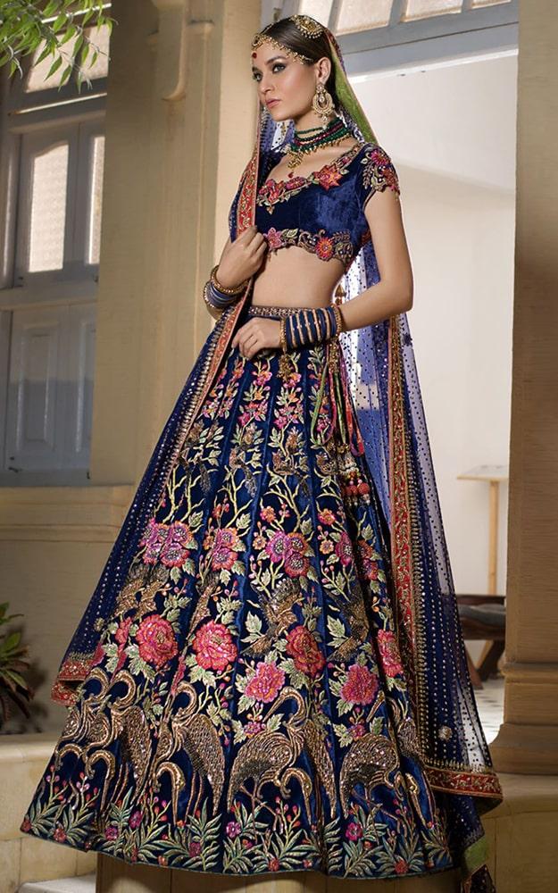 Midnight Blue Bridal Dress