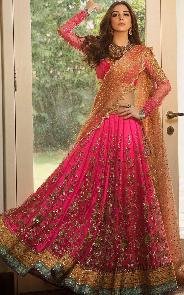 Pink Bridal Lehenga Dress