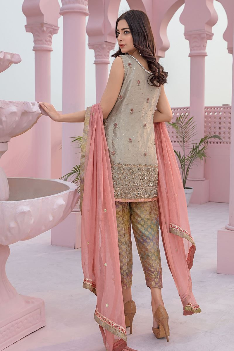 Embroidered Chiffon Dupatta suit by Aisha Imran