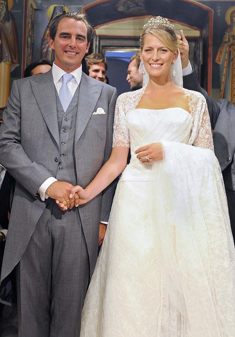 Princess Tatiana of Greece and Denmark and Prince Nikolaos of Greece and Denmark Their wedding Dresses