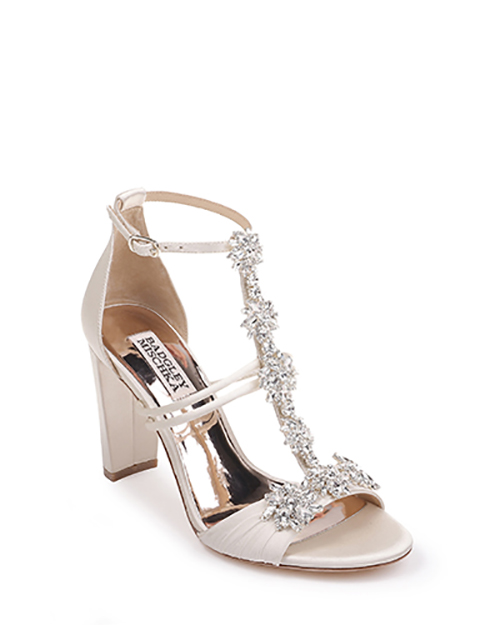 4.	Badgley Mischka Laney T-Strap Embellished