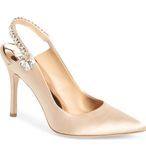 6.	Badgley Mischka Paxton Pointy Toe Slingback Pump