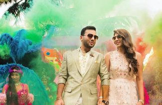 Color Bombs; The Prettiest Kaleidoscopic Backdrop for Your Wedding