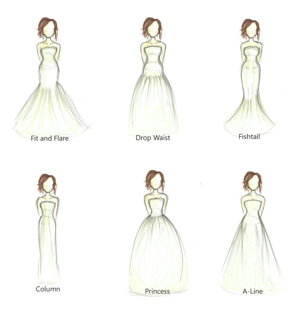 6 Bridal Gown Silhouettes According To Your Body Shape