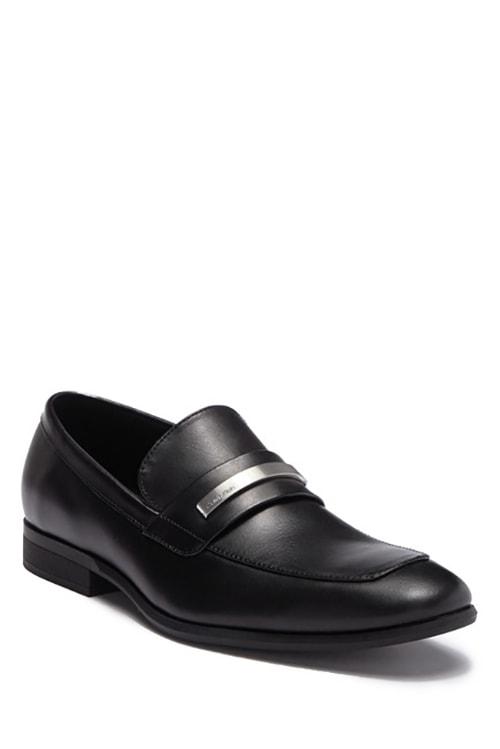 2.Calvin Klein Leonard Leather Loafer