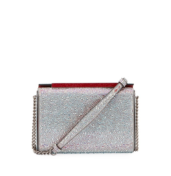 3.	Christian Louboutin Vanite Large Crystal Suede Clutch Bag