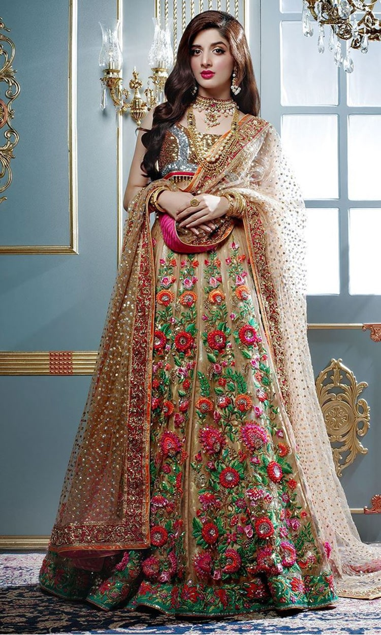 Floral Lehengas; Reimaging the Concept of a Traditional Bride
