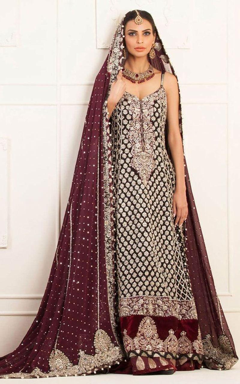 Chiffon Bridal Lehenga Dress