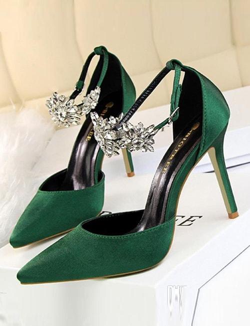Green Wedding Heels