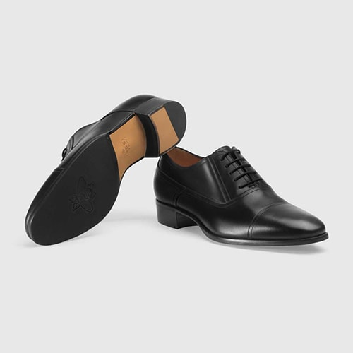 6.	Gucci Leather lace-up shoe