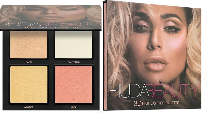 2.Huda Beauty 3D Highlighter Palette