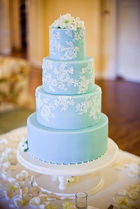 Ice Blue wedding Cake designs