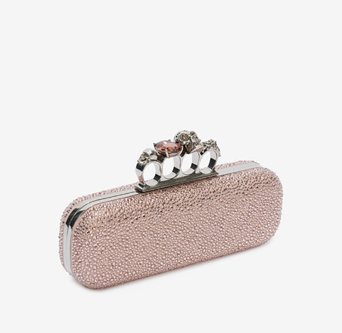 7.	Alexander McQueen Jeweled Four Ring Clutch