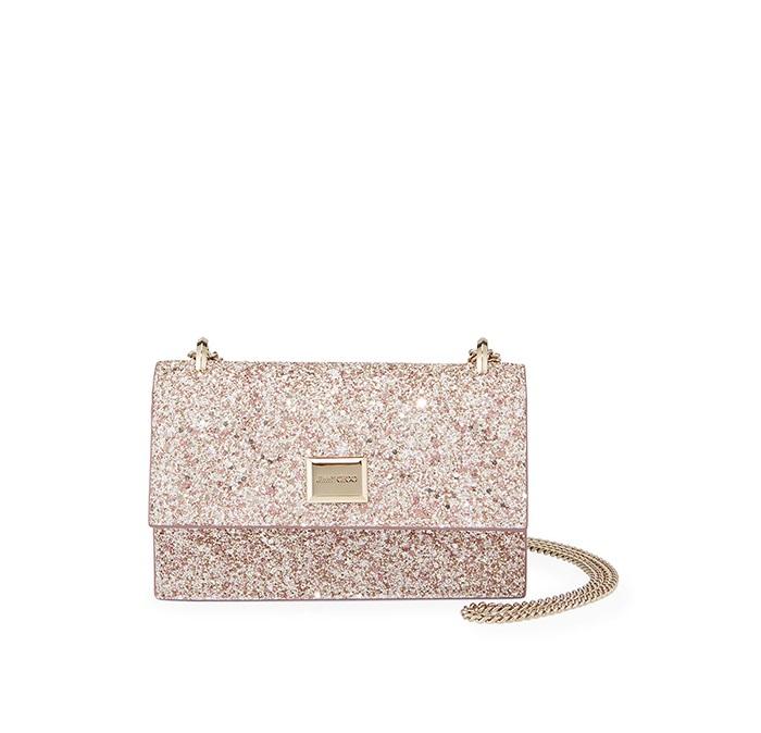 8. Jimmy Choo Leni Painted Glitter Clutch Bag